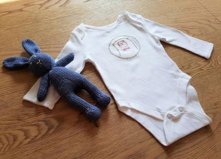 broderie brod me bergère de france body lapin chouette kit bébé 3