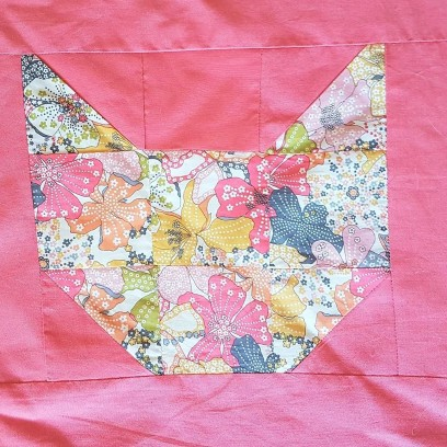 couverture plaid blanket chouette kit cat patch chat patchwork liberty sew couture 14