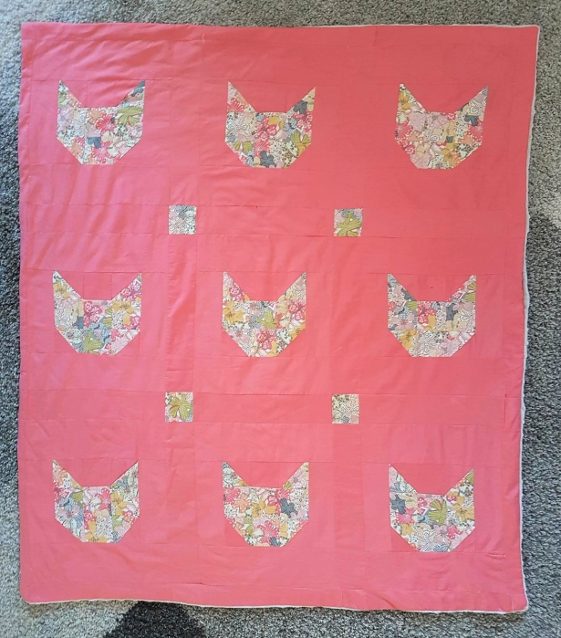couverture plaid blanket chouette kit cat patch chat patchwork liberty sew couture 6