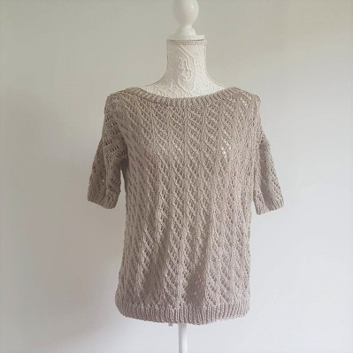 pineberry tee we are knitters pima cotton kit point ajouré pull morue 7
