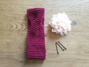 atelier créatif tricot vieille morue bandeau headband twisté