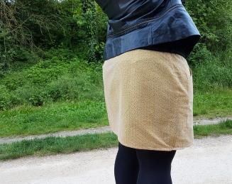 jupe 2 mailles en l'air défi chataigne deer and doe patron couture mondial tissu 3