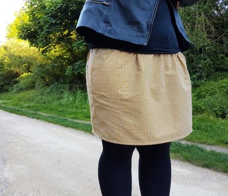 jupe 2 mailles en l'air défi chataigne deer and doe patron couture mondial tissu 4