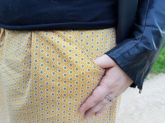 jupe 2 mailles en l'air défi chataigne deer and doe patron couture mondial tissu 9