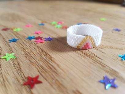 bague perle bead miyuki peyote brickstitch tissage tuto swap chouette 4