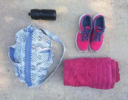 sac bowling bandouillère chouette kit toile ananas biais zip tissu couture sport diy morue 1