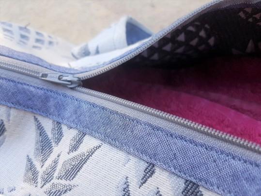 sac bowling bandouillère chouette kit toile ananas biais zip tissu couture sport diy morue 3