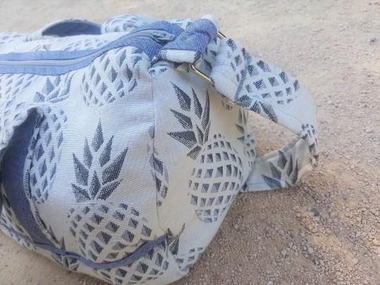 sac bowling bandouillère chouette kit toile ananas biais zip tissu couture sport diy morue 5