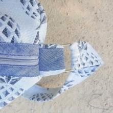sac bowling bandouillère chouette kit toile ananas biais zip tissu couture sport diy morue 8