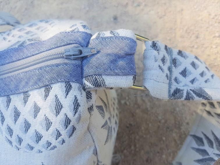 sac bowling bandouillère chouette kit toile ananas biais zip tissu couture sport diy morue 9