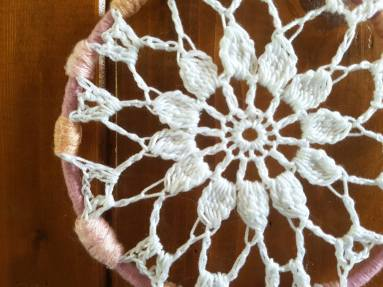 vieille morue attrape rêve doily crochet diy dentelle bohème dream catcher 1