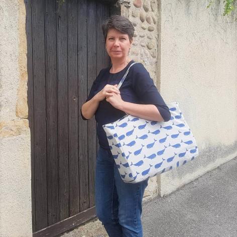 chouette kit sac cabas baleine toile tissu couture sew fabric mode vieille morue 10