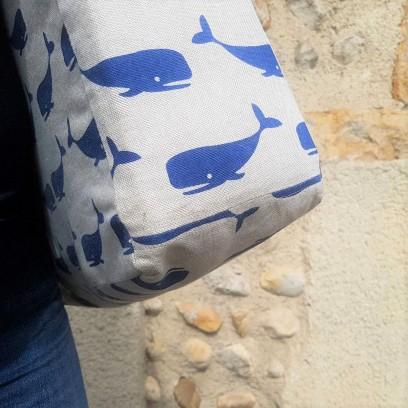 chouette kit sac cabas baleine toile tissu couture sew fabric mode vieille morue 3
