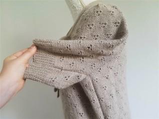 vieille morue knit tricot phildar pull lavalière manche ballon point ajouré jour dentelle femme rentré we are knitters baby alpaga 10