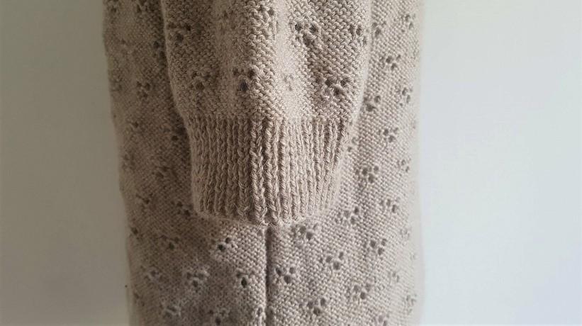 vieille morue knit tricot phildar pull lavalière manche ballon point ajouré jour dentelle femme rentré we are knitters baby alpaga 11