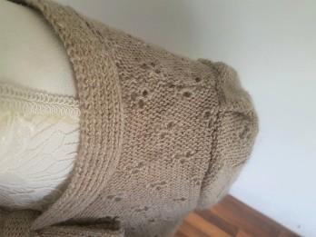 vieille morue knit tricot phildar pull lavalière manche ballon point ajouré jour dentelle femme rentré we are knitters baby alpaga 12