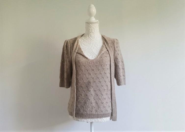 vieille morue knit tricot phildar pull lavalière manche ballon point ajouré jour dentelle femme rentré we are knitters baby alpaga 13