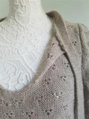 vieille morue knit tricot phildar pull lavalière manche ballon point ajouré jour dentelle femme rentré we are knitters baby alpaga 15