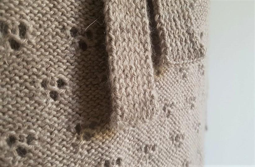 vieille morue knit tricot phildar pull lavalière manche ballon point ajouré jour dentelle femme rentré we are knitters baby alpaga 17