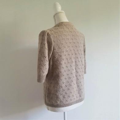 vieille morue knit tricot phildar pull lavalière manche ballon point ajouré jour dentelle femme rentré we are knitters baby alpaga 3