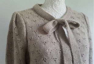 vieille morue knit tricot phildar pull lavalière manche ballon point ajouré jour dentelle femme rentré we are knitters baby alpaga 4