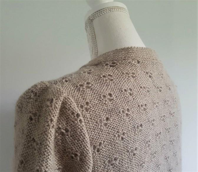 vieille morue knit tricot phildar pull lavalière manche ballon point ajouré jour dentelle femme rentré we are knitters baby alpaga 5