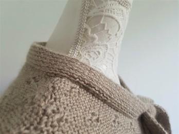 vieille morue knit tricot phildar pull lavalière manche ballon point ajouré jour dentelle femme rentré we are knitters baby alpaga 6