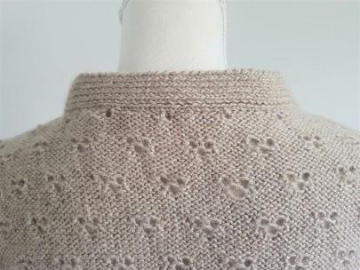 vieille morue knit tricot phildar pull lavalière manche ballon point ajouré jour dentelle femme rentré we are knitters baby alpaga 7