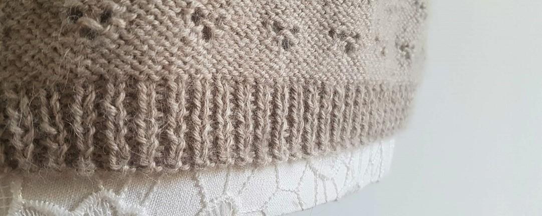 vieille morue knit tricot phildar pull lavalière manche ballon point ajouré jour dentelle femme rentré we are knitters baby alpaga 9