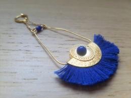vieille morue droguerie kit bijoux aztèque diy bleu roi gold boucles oreille bracelet perles 2