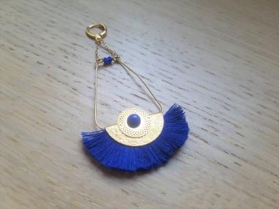 vieille morue droguerie kit bijoux aztèque diy bleu roi gold boucles oreille bracelet perles 3