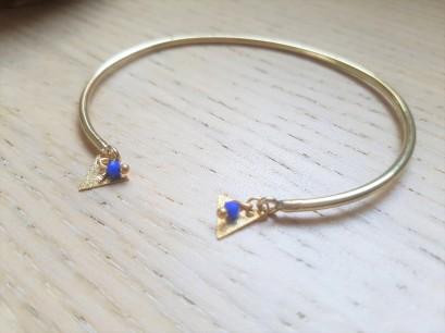 vieille morue droguerie kit bijoux aztèque diy bleu roi gold boucles oreille bracelet perles 4