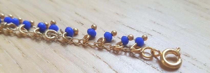 vieille morue droguerie kit bijoux aztèque diy bleu roi gold boucles oreille bracelet perles 6
