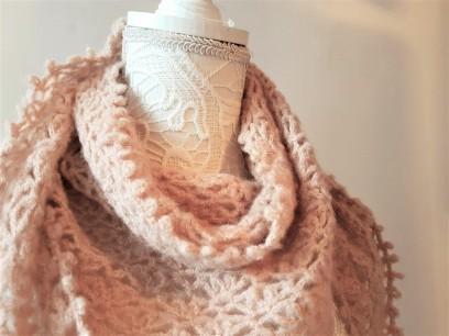 vieille morue chèche foulard châle phildar phil light crochet dentelle 1