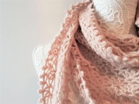 vieille morue chèche foulard châle phildar phil light crochet dentelle 2