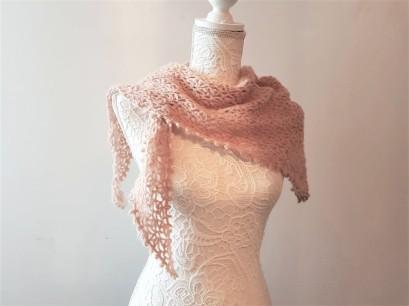 vieille morue chèche foulard châle phildar phil light crochet dentelle 3