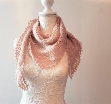 vieille morue chèche foulard châle phildar phil light crochet dentelle 4