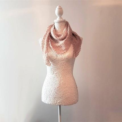 vieille morue chèche foulard châle phildar phil light crochet dentelle 8