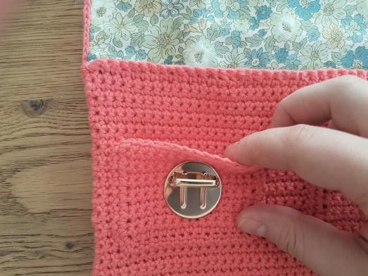 vieille morue mini cartable trousse pochette crochet maille serrée isabelle kessedjian mondial tissu rico design coton 9