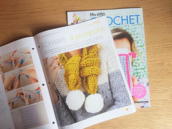 altaya mon atelier crochet magazine fascicule écharpe pompon vieille morue