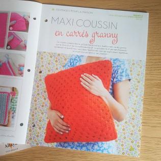 altaya mon atelier crochet magazine fascicule coussin granny vieille morue