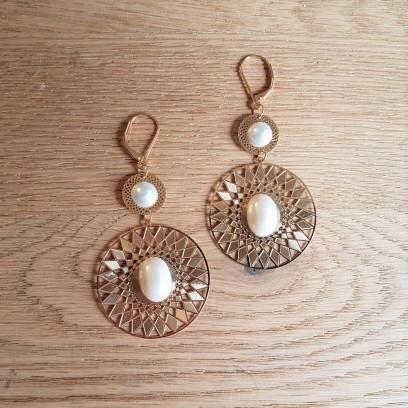 vieille morue la droguerie boucles d oreille or doré nacré perles bijoux diy 2