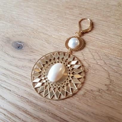 vieille morue la droguerie boucles d oreille or doré nacré perles bijoux diy 3