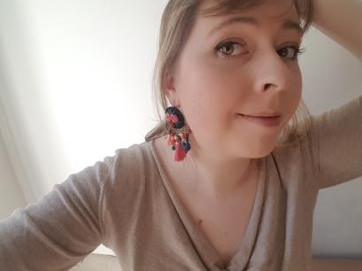 boucles oreille la droguerie kit bijoux folk broderie brodé pompon perles diy vieille morue 5