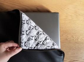 vieille morue housse étui ordinateur portable masculin couture simili cuir molleton molletonnage doublure h&e tissus toto mondial star wars storm troopers 2
