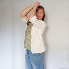vieille morue couturette blouse robe lila patron couture sew graphique liberty crêpe 10
