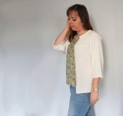 vieille morue couturette blouse robe lila patron couture sew graphique liberty crêpe 11