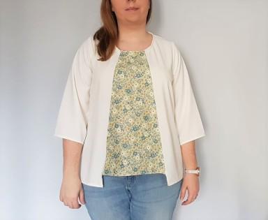 vieille morue couturette blouse robe lila patron couture sew graphique liberty crêpe 12