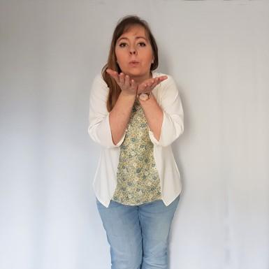 vieille morue couturette blouse robe lila patron couture sew graphique liberty crêpe 2