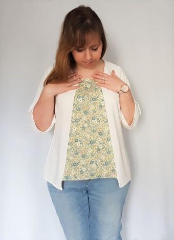 vieille morue couturette blouse robe lila patron couture sew graphique liberty crêpe 9